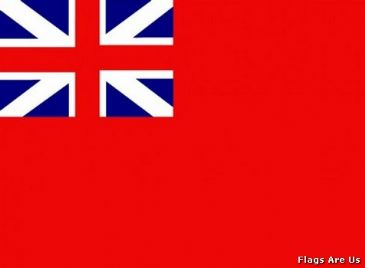 Naval Ensign Red Squadron  1707 - 1801